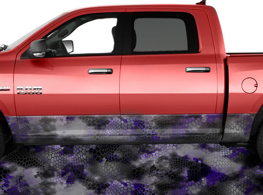 Chameleon Camo 2 Purple Rocker Panel Wrap Graphic Decal Wrap Truck Kit