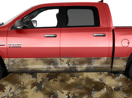 Chameleon Camo Desert Rocker Panel Wrap Graphic Decal Wrap Truck Kit