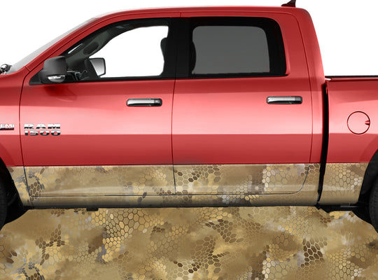 Chameleon Camo Light Desert Rocker Panel Wrap Graphic Decal Wrap Truck Kit