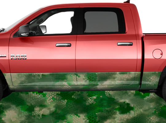 Chameleon Camo Forest Rocker Panel Wrap Graphic Decal Wrap Truck Kit