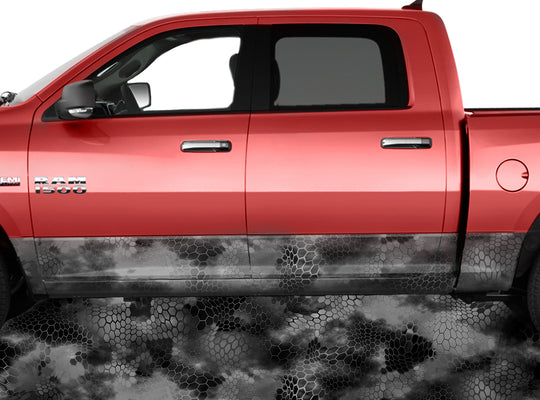 Chameleon Camo Night Rocker Panel Wrap Graphic Decal Wrap Truck Kit