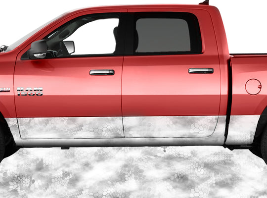 Chameleon Camo Snow Rocker Panel Wrap Graphic Decal Wrap Truck Kit