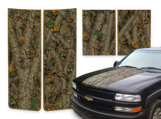 Chevy Tahoe Racing Stripes Forest - Brown Pinstripe 2000-2006