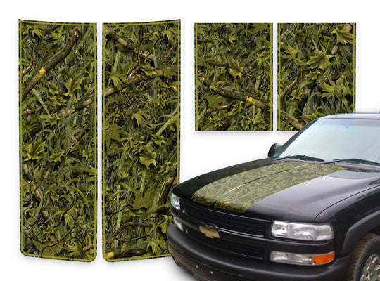Chevy Tahoe Racing Stripes Marshland - Green Pinstripe 2000-2006