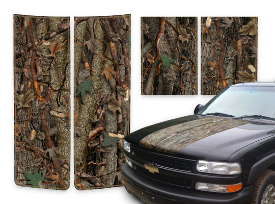 Chevy Tahoe Racing Stripes Oak Ambush - Brown Pinstripe 2000-2006