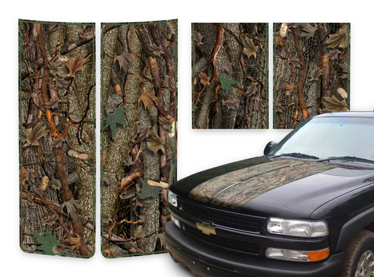 Chevy Tahoe Racing Stripes Oak Ambush - Green Pinstripe 2000-2006