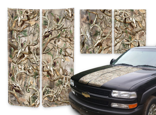 Chevy Tahoe Racing Stripes Buck Skulls - Beige Pinstripe 2000-2006