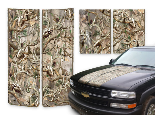 Chevy Tahoe Racing Stripes Buck Skulls - Brown Pinstripe 2000-2006