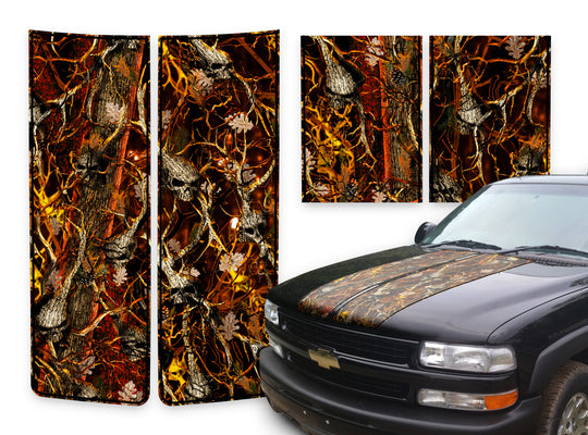 Chevy Tahoe Racing Stripes Skulls Blaze - Black Pinstripe 2000-2006