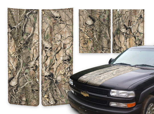 Chevy Tahoe Racing Stripes Skulls - Brown Pinstripe 2000-2006
