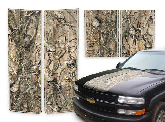 Chevy Tahoe Racing Stripes Skulls - Tan Pinstripe 2000-2006
