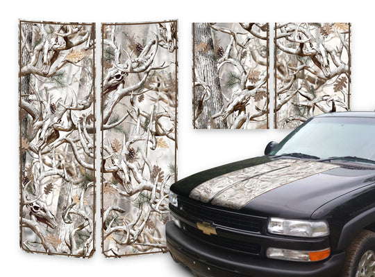 Chevy Tahoe Racing Stripes Buck Skulls Snow - Brown Pinstripe 2000-2006