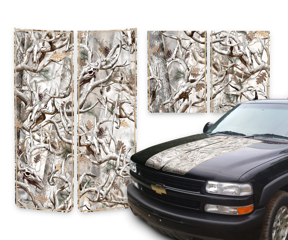 Chevy Tahoe Racing Stripes Buck Skulls Snow - Tan Pinstripe 2000-2006