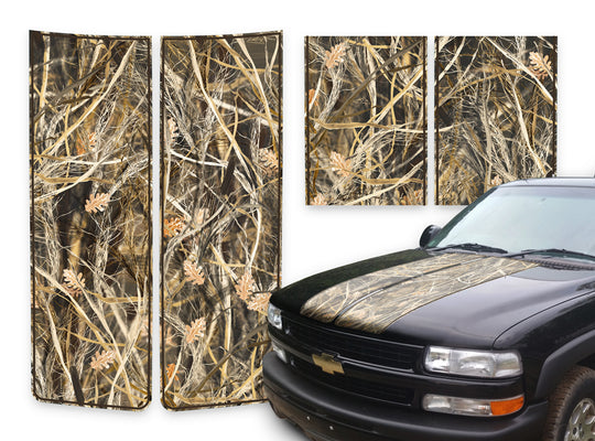 Chevy Tahoe Racing Stripes Tallgrass - Brown Pinstripe 2000-2006