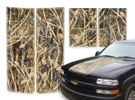Chevy Tahoe Racing Stripes Tallgrass - Tan Pinstripe 2000-2006