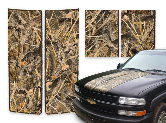 Chevy Tahoe Racing Stripes Tallgrass Duck - Brown Pinstripe 2000-2006