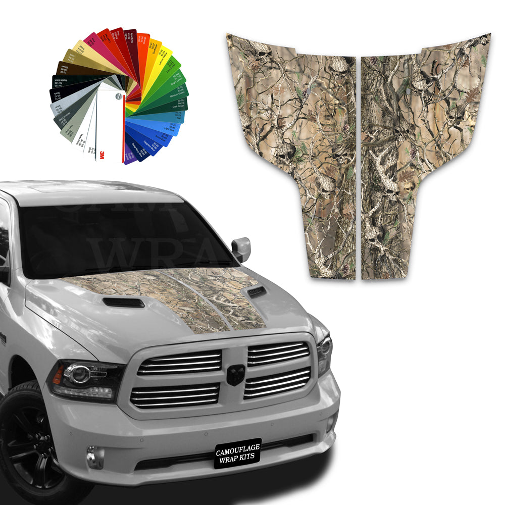 Dodge Ram Hood Stripes Obliteration Skull Camo 2009-2017