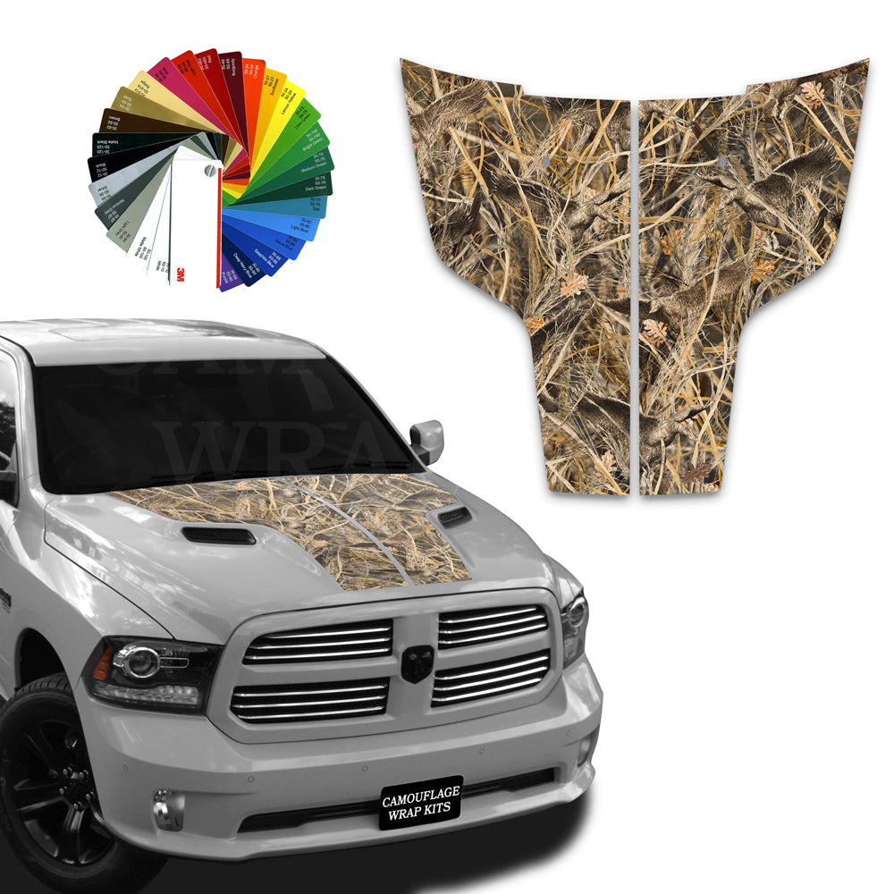 Dodge Ram Hood Stripes Tallgrass Duck Camo 2009-2017