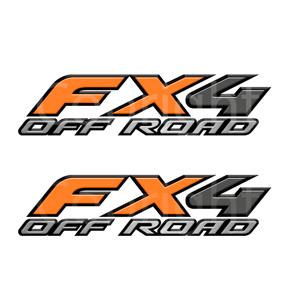 FX4 Decal Orange