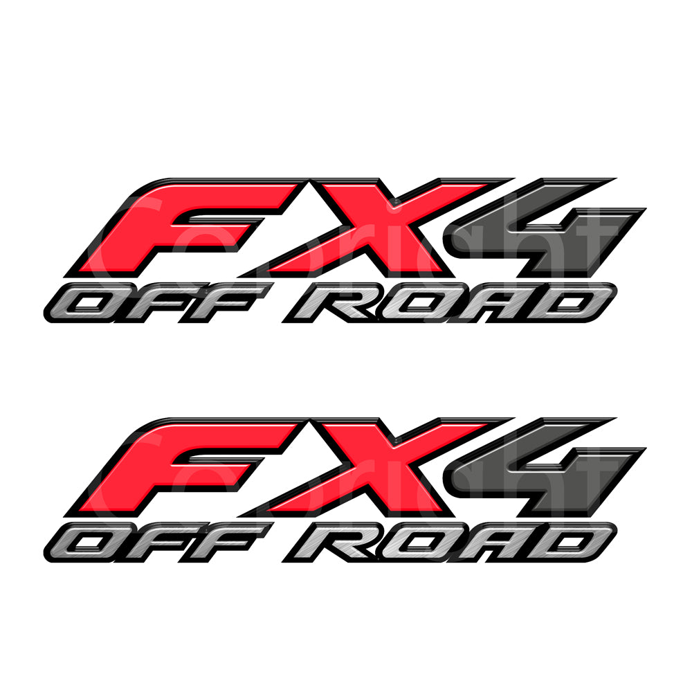FX4 Decals Red