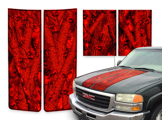 GMC Sierra Racing Stripes Forest Infero - Black Pinstripe 2000-2006