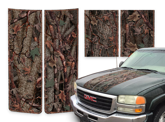 GMC Sierra Racing Stripes Oak Ambush - Brown Pinstripe 2000-2006