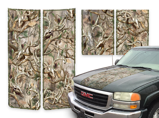 GMC Sierra Racing Stripes Buck Skulls - Green Pinstripe 2000-2006