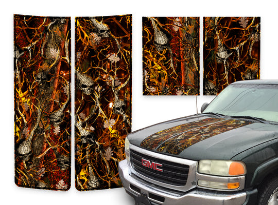 GMC Sierra Racing Stripes Skulls Blaze - Burnt Orange Pinstripe 2000-2006