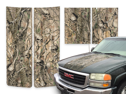 GMC Sierra Racing Stripes Skulls - Beige Pinstripe 2000-2006