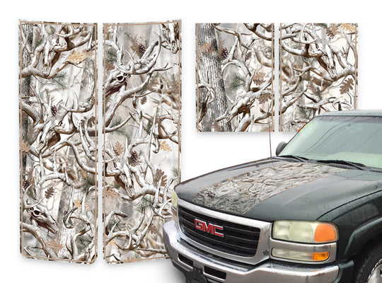 GMC Sierra Racing Stripes Buck Skulls Snow - Beige Pinstripe 2000-2006