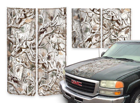 GMC Sierra Racing Stripes Buck Skulls Snow - Brown Pinstripe 2000-2006