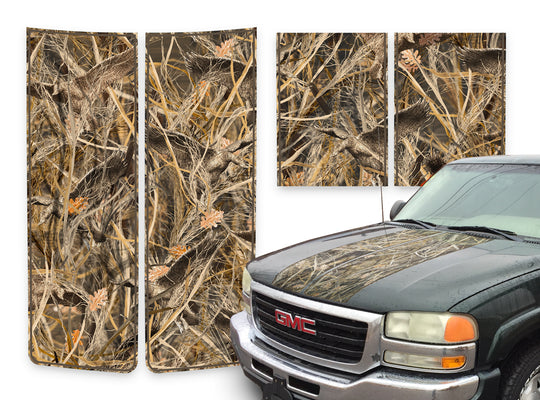 GMC Sierra Racing Stripes Tallgrass Duck - Brown Pinstripe 2000-2006