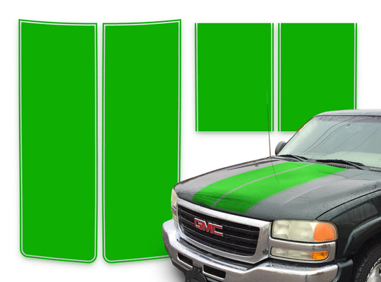 GMC Yukon Racing Stripes Green - 2000-2006
