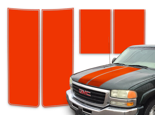 GMC Yukon Racing Stripes Orange - 2000-2006