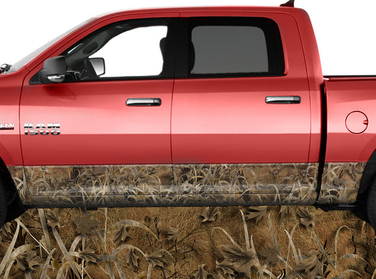 Grassland Brown Rocker Panel Wrap Graphic Decal Wrap Truck Kit