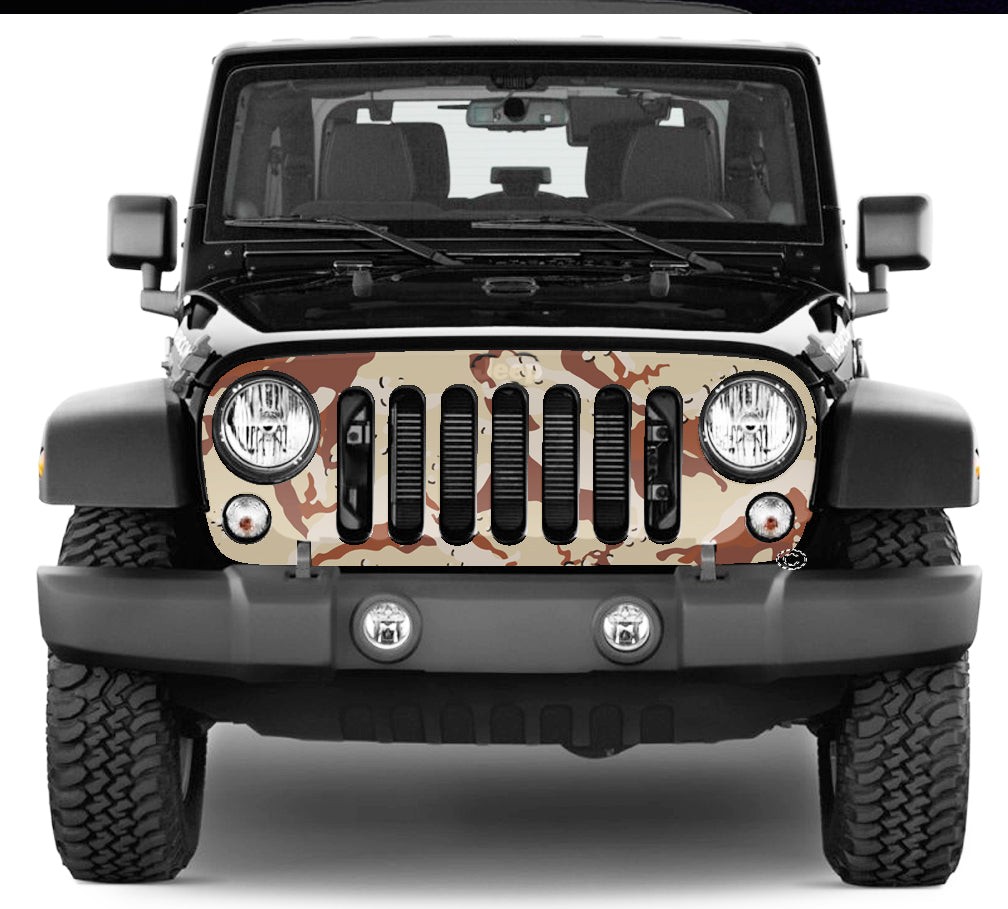 Jeep Grill Wrap - Desert Camouflage Wrangler 2007 - 2018