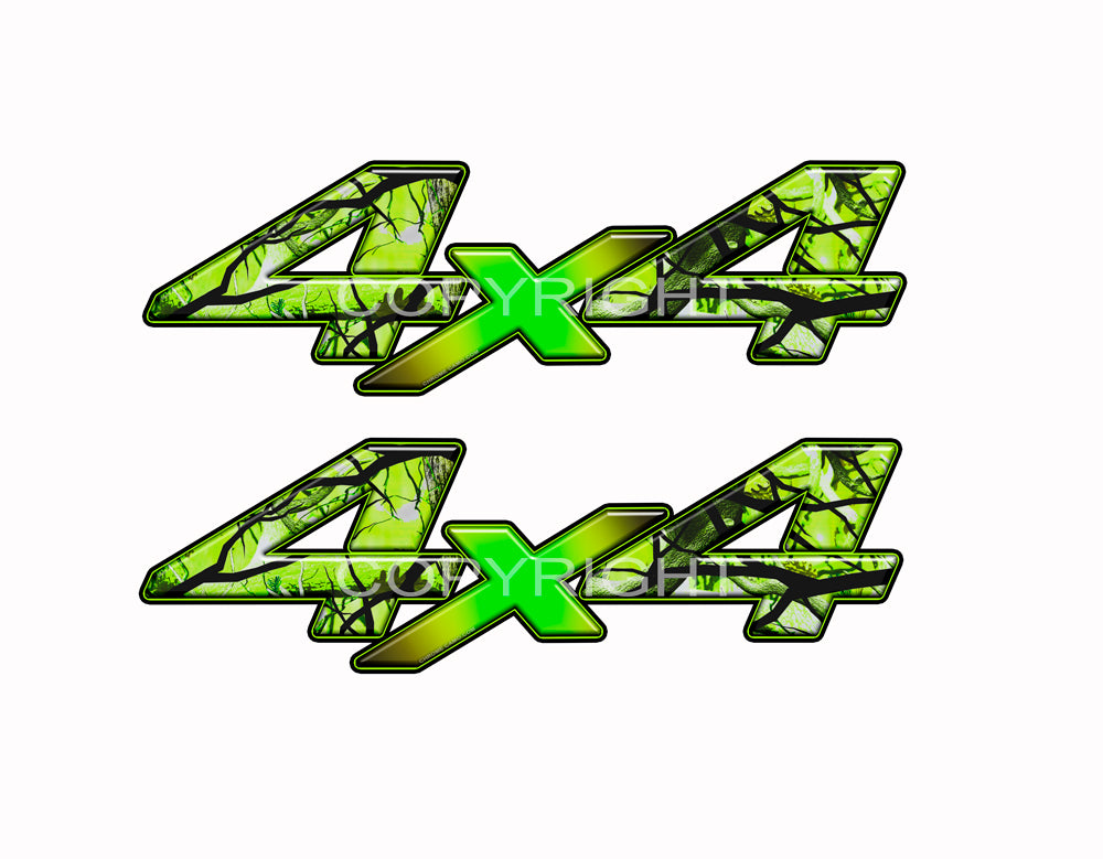 "4X4 Zombie Bile Flag Decals Truck Undead Truck Graphics Colored ""X"" 2 Pack"
