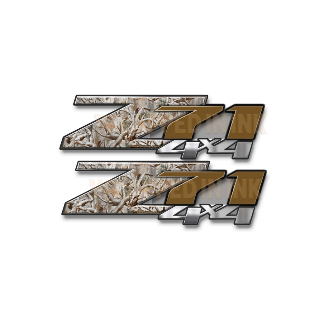Z71 4x4 Decals Snow Buck Camo