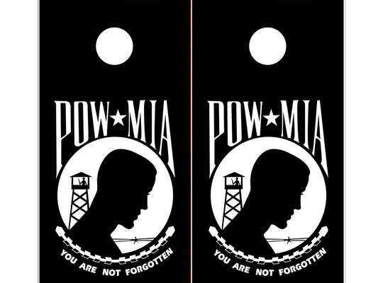 Cornhole Board Wraps - POW Prisoners of War Patriotic Military - 2 PACK