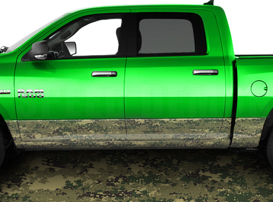 Digital Marine Rocker Panel Wrap Graphic Decal Wrap Truck Kit