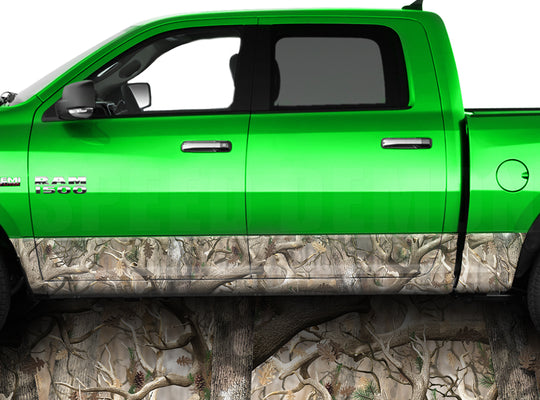 Obliteration Camo Rocker Panel Wrap Graphic Decal Wrap Truck Kit