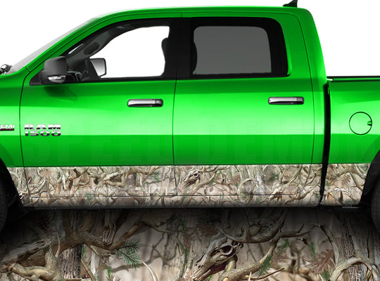 Buck Obliteration Camo Rocker Panel Wrap Graphic Decal Wrap Truck Kit