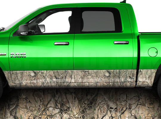 Skull Obliteration Camo Rocker Panel Wrap Graphic Decal Wrap Truck Kit