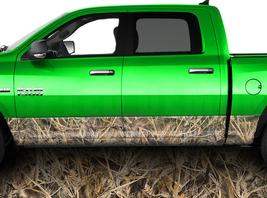Tallgrass Duck Camo Rocker Panel Wrap Graphic Decal Wrap Truck Kit