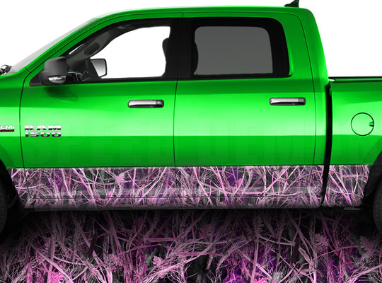 Tallgrass Pink Camo Rocker Panel Wrap Graphic Decal Wrap Truck Kit