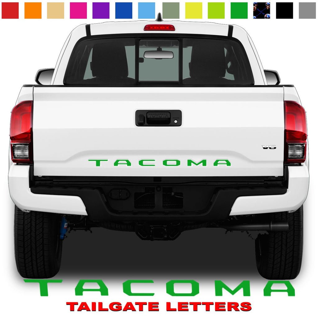 Toyota Tacoma Tailgate Lettering Green