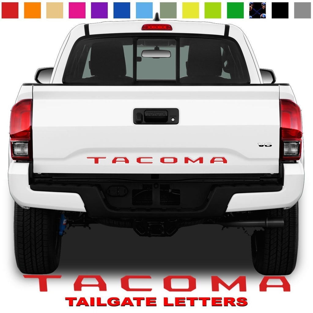 Toyota Tacoma Tailgate Lettering Red