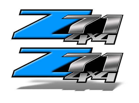 Light Blue Z71 4x4 Decals