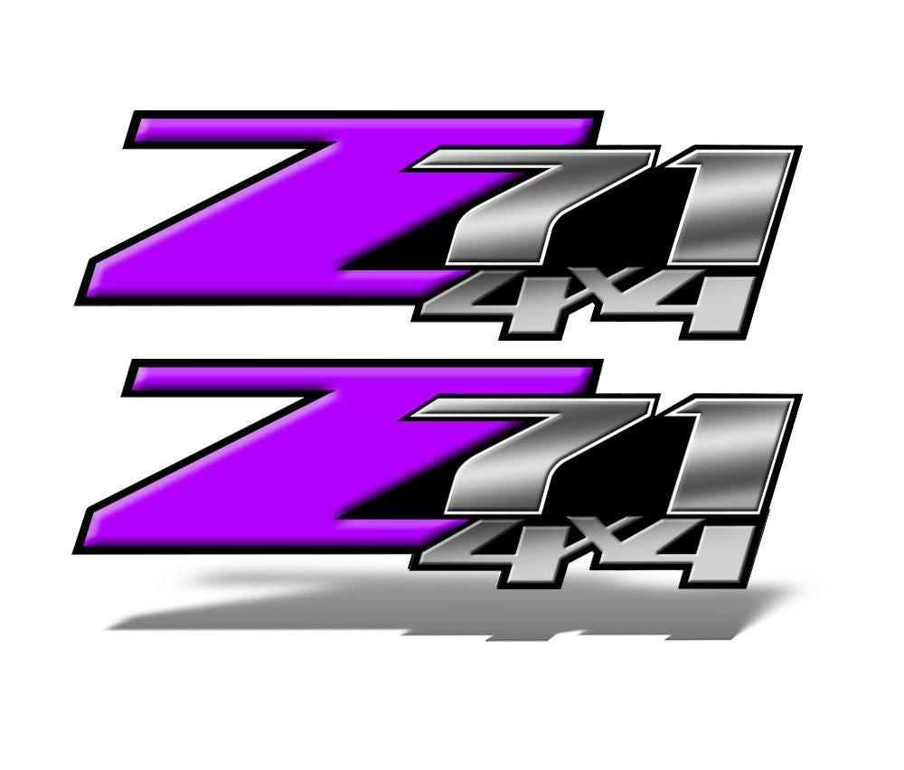 Purple Z71 4x4 Decals
