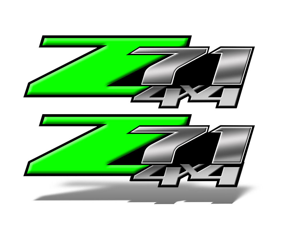 Green Z71 4x4 Decals